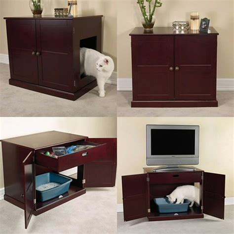 top 5 designs of cat litter box furniture pet animals