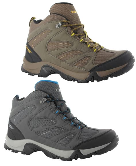 lightweight mens walking boots new mens hi tec pioneer lightweight waterproof walking