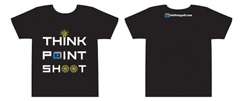 Tshirt T Shirt Kaos Melawan Lupa kaos 2 infofotografi warna hitam think point shoot