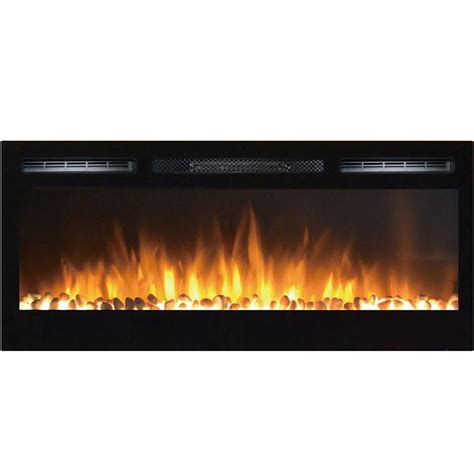 built in wall mount fireplace moda flame cynergy pebble stone built in wall mount