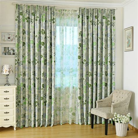 pattern curtains stunning green blackout curtains with leaves patterns