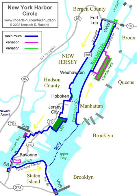 map new york harbor new york harbor circle route map