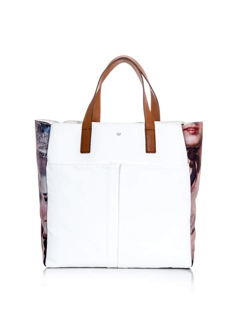 Anya Hindmarch Large Nevis Tote by Anya Hindmarch Nevis Ladyprint Canvas Tote In White Lyst