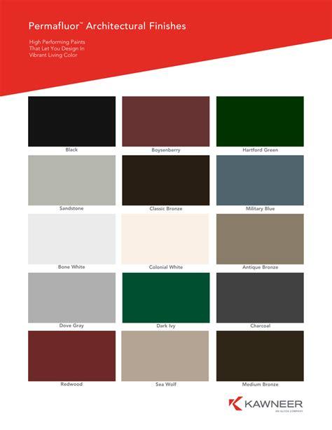 kawneer kynar color chart optiq aa 5450 series windows kawneer company inc ayucar