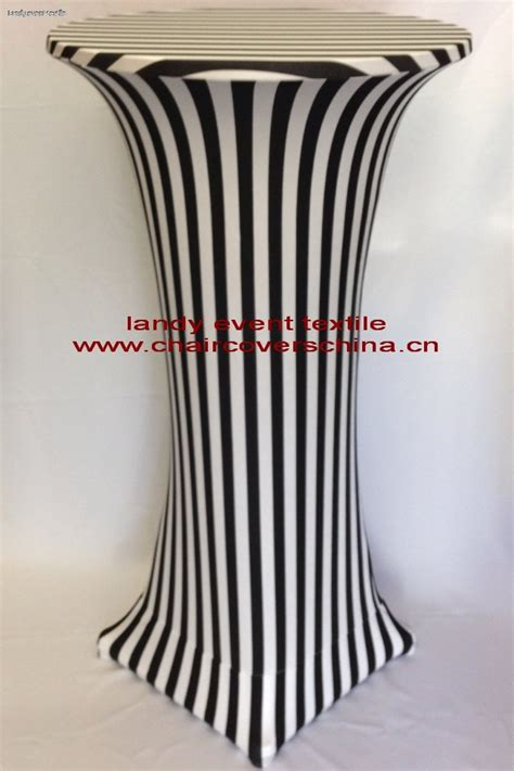 black and white striped bar cover