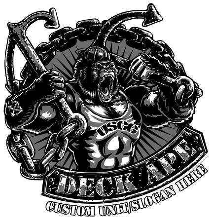 coast guard deck ape shirt