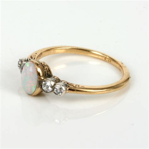 deco opal ring buy deco opal ring made in the 1920 s sold