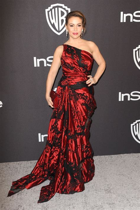 Alyssa Milano ? InStyle and Warner Bros Golden Globe 2019