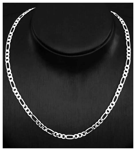 joyas cadenas de plata cadena de plata 925 hombre 4mm no ba 241 o de plata 390