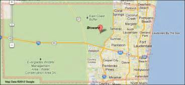 where is broward county in florida on a map florida broward county 171 every county