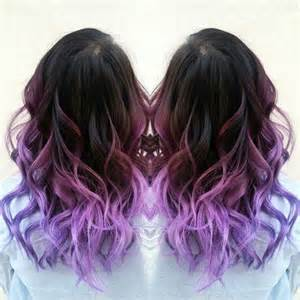 ombre colorful hair purple ombre hair color with waves new purple