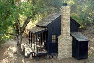Black Cabin For Sale Small Bunkie With Front Porch And Fireplace