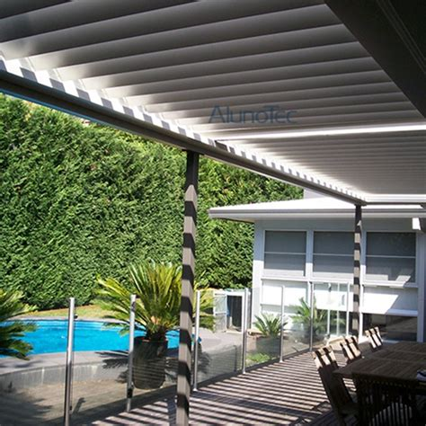 Aluminum Patio Roof by Motor Aluminum Patio Roof Pergola With Side Screen Buy