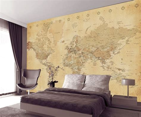 Wall Murals Canada Wallpaper World Map Antique Style Poster Sold At Europosters
