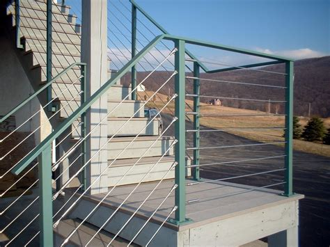 wire banister custom cable or tension wire railings