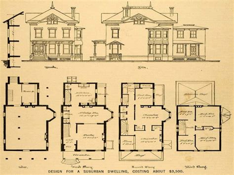 Victorian Mansions Floor Plans | old queen anne house plans vintage victorian house plans