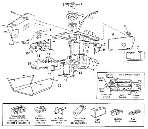 Chamberlain Garage Door Opener Parts Diagram Ppi Blog Overhead Door Operator Parts
