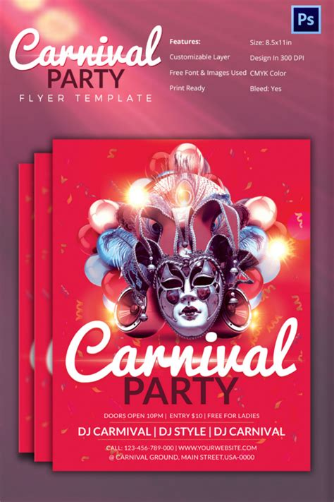 carnival party flyer carnival flyer template 51 free psd ai vector eps