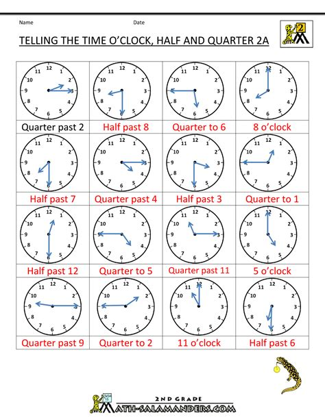 clock worksheets quarter after time worksheet o clock quarter and half past