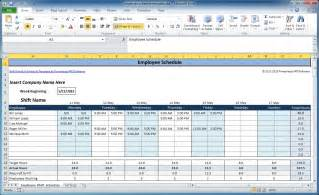 work hours excel template free employee and shift schedule templates