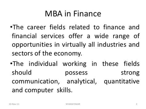 Mba Career Opportunities Finance by Career Opportunities In Finance