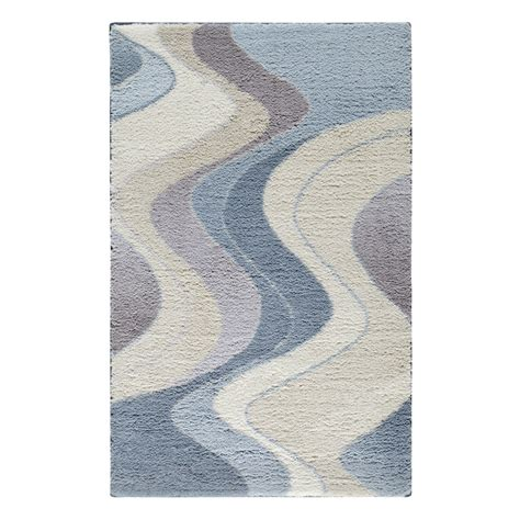throw rug carpet shop stainmaster rectangular blue geometric tufted accent rug common 2 ft x 4 ft actual 30