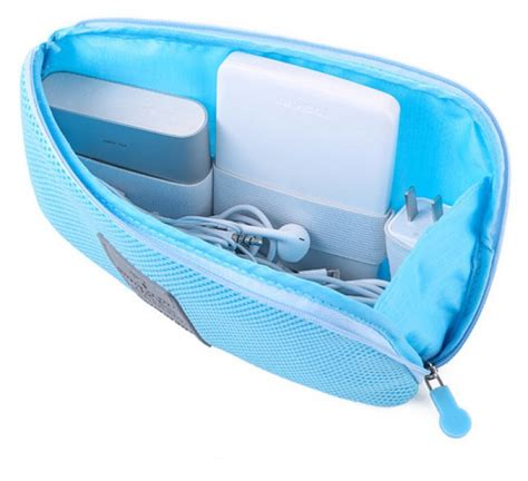 barangunik co detil produk dompet shockproof mesh travel organizer cable pouch