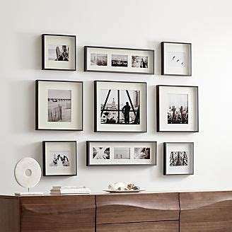 wall decor photo frame picture frames for photos and wall art crate and barrel