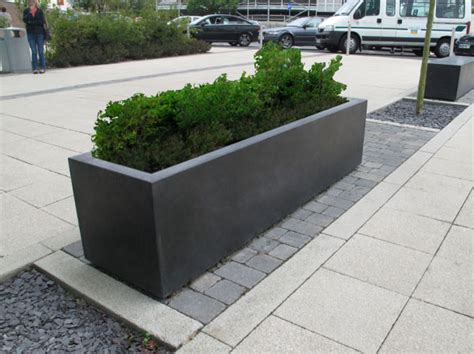 concrete planter blyth robust large outdoor concrete planters range uk