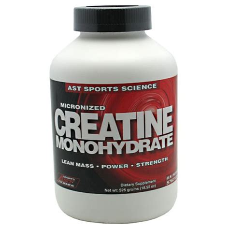 creatine 3 grams creatine monohydrate 525 grams ast