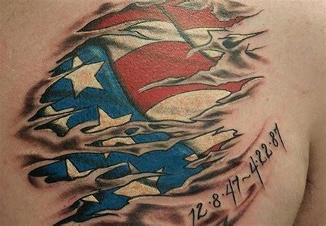 tattoo 3d vietnam american flag veteran ink