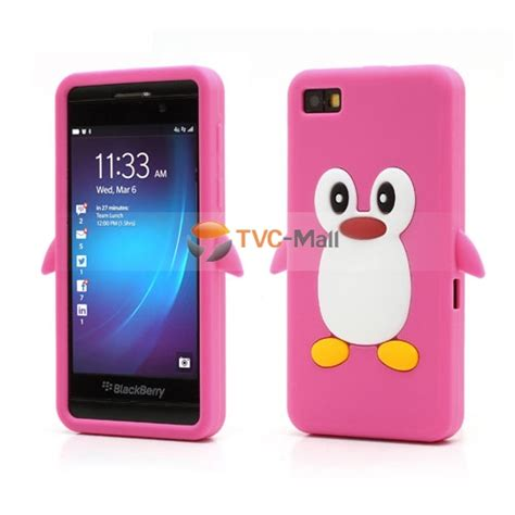 Silicon Casing Softcase 3d Blackberry Priv 4 3d penguin silicone jelly for blackberry z10 bb 10