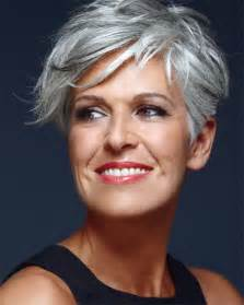hair styles after 50 salt and pepper short hairstyles for women