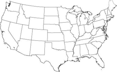 unlabeled map of the united states best photos of map of us without states labeled