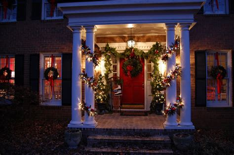 christmas decorating outdoor columns decorations for porch columns www indiepedia org