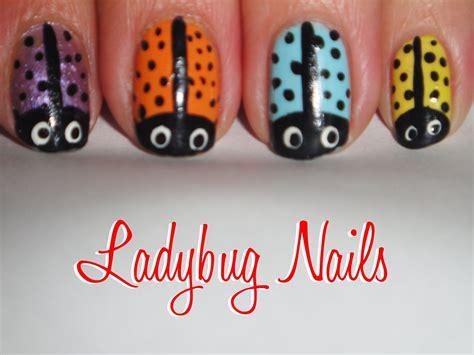easy nail art ladybug tutorial easy ladybug nails youtube