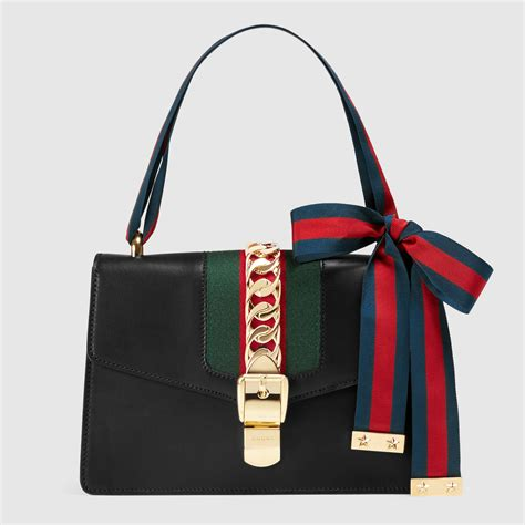 gucci bag sylvie leather shoulder bag gucci s handbags