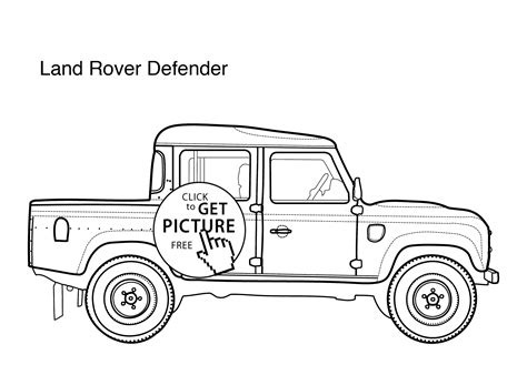 cars land coloring pages super car land rover defender coloring page for kids