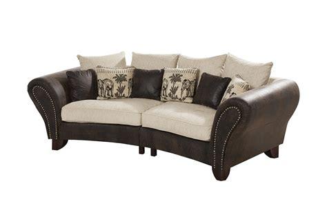 big and sofa smart big sofa braun beige mikrofaser webstoff nadja
