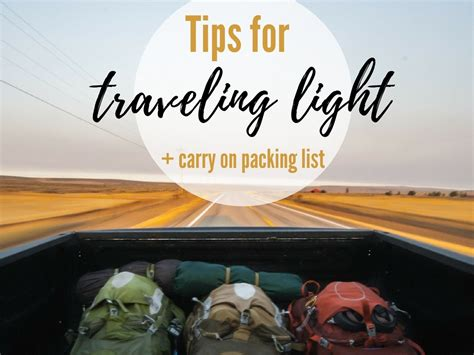 Travelling Light tips for traveling light ultimate packing guide carry