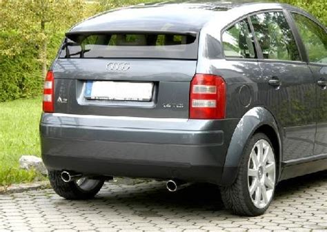 Audi A2 Tuning by Bn Pipes Audi A2 8z Endschalld 228 Mpfer F 252 R 1 4 Tdi Jms