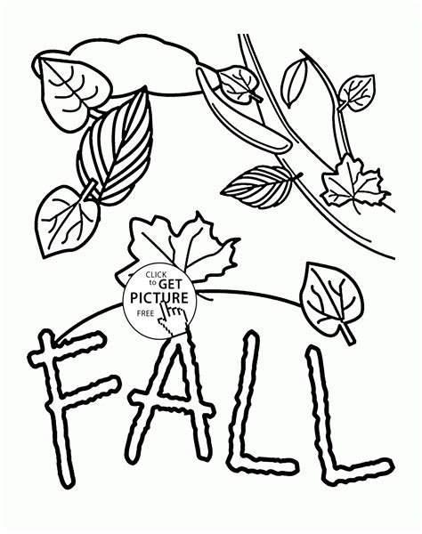 seasons coloring pages preschool fall coloring pages for kids fall leaves printables free
