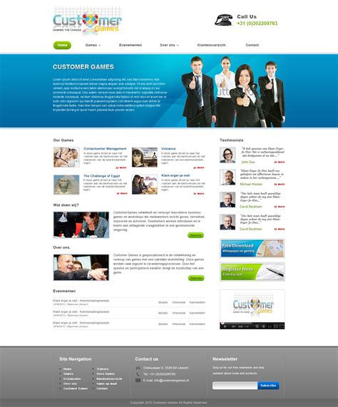 customer games business template by torch design on deviantart