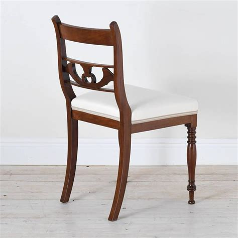 Antique Upholstered Dining Chairs Set Of 4 Antique Regency Dining Chairs In Mahogany W Upholstered Seat For Sale At 1stdibs