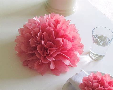 4 centerpieces 9 tissue paper flowers choose your