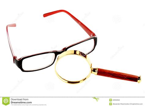 magnifier and eyeglass stock photography image 22932952