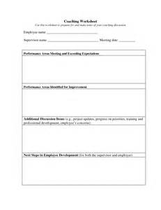 employee coaching template 19 best images of employee coaching worksheet employee