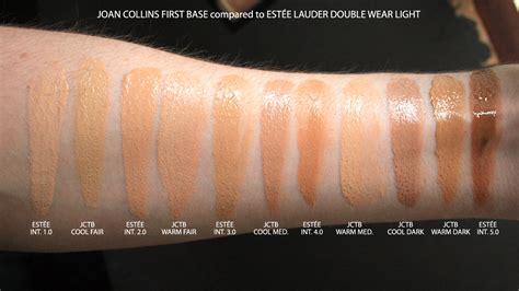 estee lauder double wear light swatches estee lauder double wear makeup to go swatches mugeek