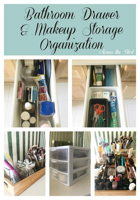 bathroom drawer  makeup storage organization