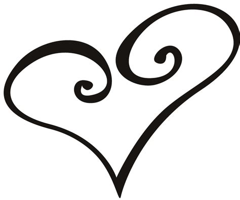 heart outline tattoo outline clipart best clipart best